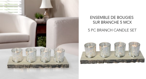 5PC Branch Candle Set- 6B