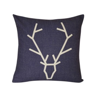 MBL COUSSIN CARRE FAUX LIN IMPRIMER CERF MARIN-LIN 20X20