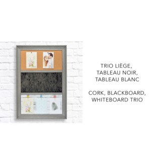 3 Combo Board Cork Chalkboard - 46x66x3,7-8B