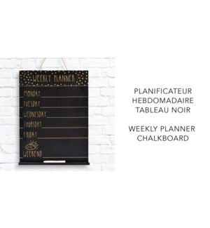 Weekly Planner Chalkboard - 26x4x35 - 8B