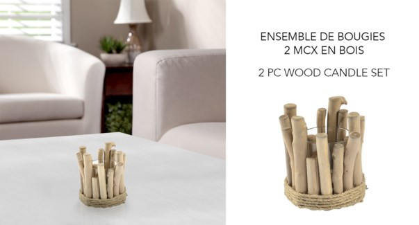 Wood Candle Holder - 15x15x15 8 B
