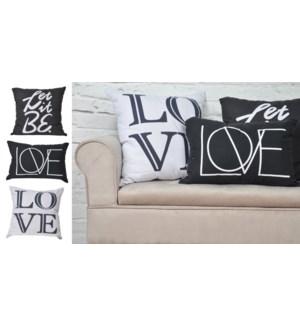 LOVE COUSSIN BLANC/GRIS 20X20