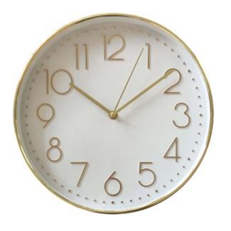 """12"""" WALL Clock  GOLD- 6B"""