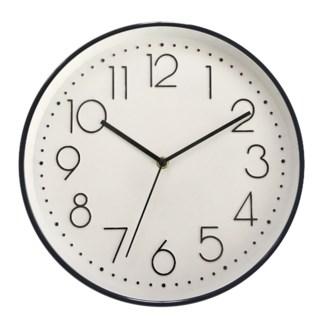 """12"""" WALL Clock BLACK- 6B"""