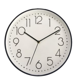 "12"" WALL Clock BLACK- 6B"