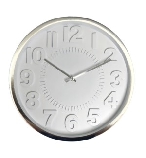 16 Inch Wall Clock SILVER-6B