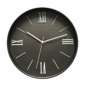 12  Inch Wall Clock Dark Grey - 6B