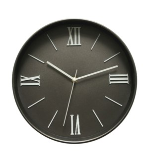 12  Inch Wall Clock Dark Grey - 6B