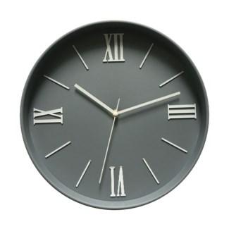 12 Inch wall Clock Lt Grey - 6B