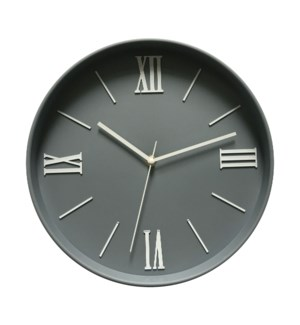 12 Inch wall Clock Lt Grey - 6B