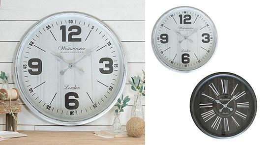 Horloge Blk & Bois-3B 30 ''