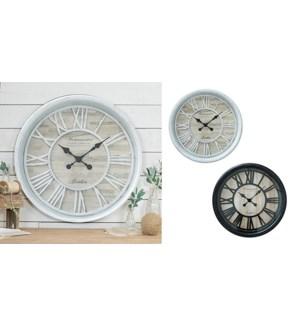 Horloge 20 '' Blanc et Bois - 4B