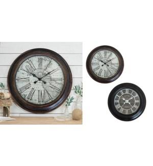 Horloge 22 '' Noir et Bois-4B