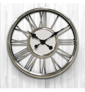 18 Inch wall Clock Silver  - 6B