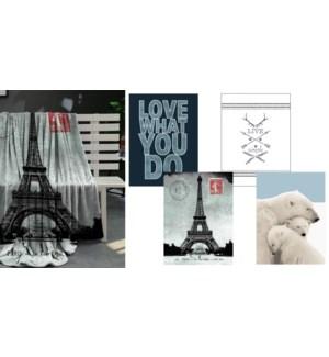 Jetes en micro vison de Eiffel Tower 50*60 3/b