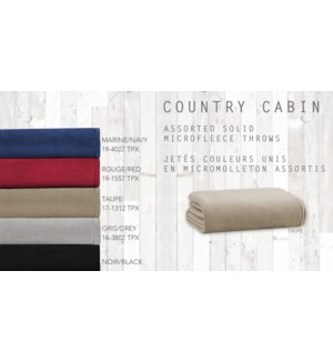 GT Jete couleurs unis en microbolleton asst country cabin 50