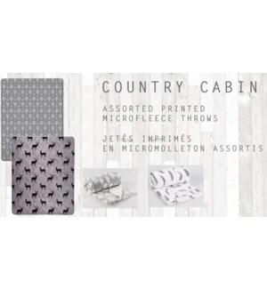 GT Jete imprimes en microbolleton asst country cabin 50*60