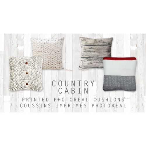 GT coussin imprimes photoreal country cabin asst 17*17