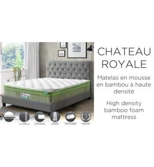 Chateau Royal Bambou 135x190x36cm moyen-ferme matelas F