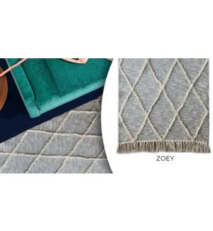 Tapis en coton Zoey Diamond 27''x45 '' - 6B