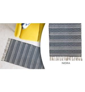 Tapis coton Nidra Diamond Stripe 27''x45 '' - 12B