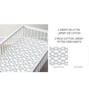 Drap equipe en lit de bebe Blanc 28*52 12/b