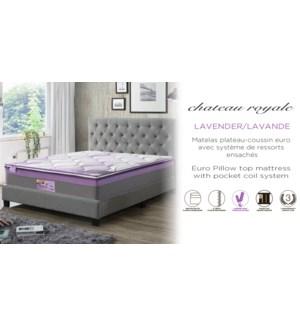 Chƒteau Royale Lavande 97x190x36cm Bal mf roul' mattress