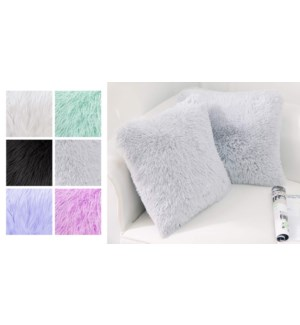 KENSIE 2 pk PV fleece cushions 22X22 ASST. 6PR/B