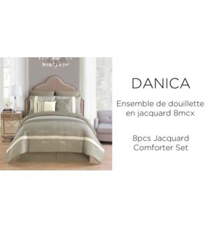 DANICA 8 pc jacquard comforter set Q 2B