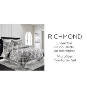 RICHMOND 3 pc-Gris-F/Q 88x90-Ens.Douiellette