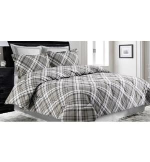 RICHMOND 3 pc-Gris-K 104x92 -Ens.Douiellette