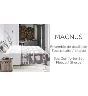 MAGNUS 3 pc fleece/sherpa-Gris bear-F/Q88X88-Ens.Douiellette