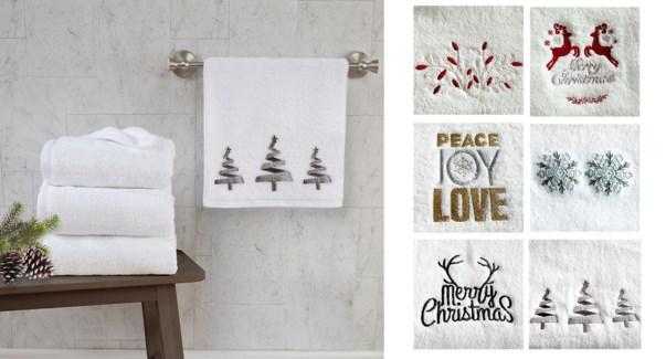 2PK CHRISTMAS TOWEL16X20 12/B