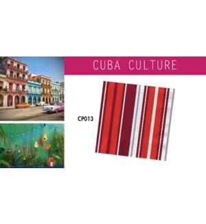 CP CUBA CULTURE NAPKINS 13X13 RED STRIPE