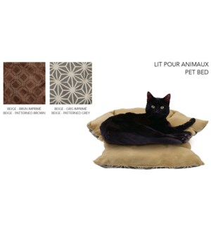 PET BED WITH FOLDING FLAP ASST. 63X52X17CM 10/B