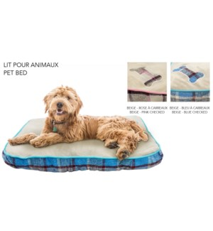 RECTANGULAR PET BED ASST. 75X50X11CM 7/B