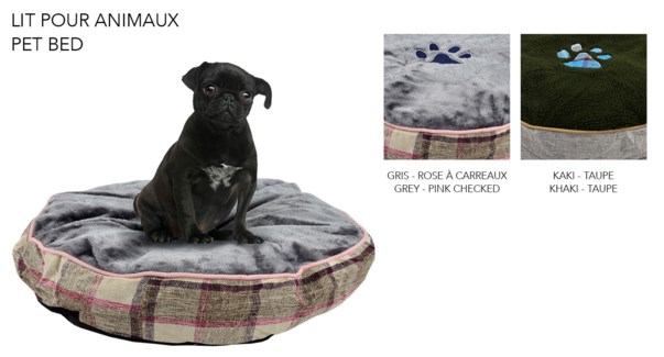 ROUND PET BED ASST. 60X60X12CM 8/B