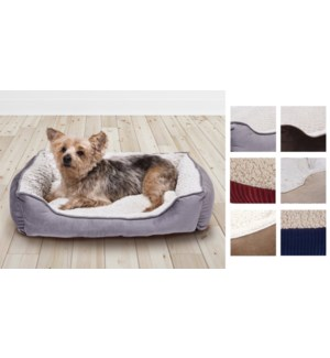 PET BED ASSORTED 60*45*18cm  8/B