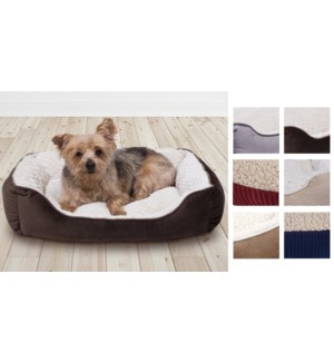 PET BED ASSORTED 76*60*20cm  6/B