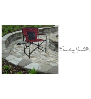Folding Chair W/Side Tabl Red
