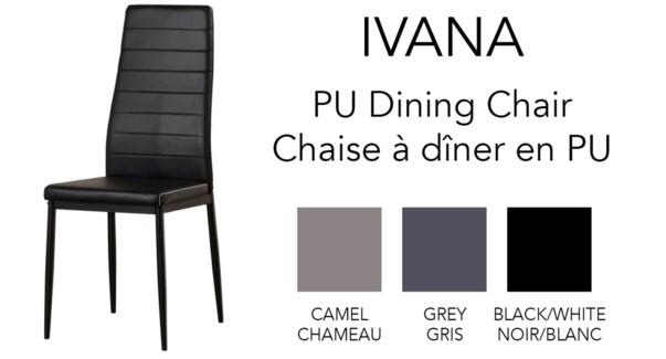 IVANA DINING CHAIR 56X43.5X96CM CAMEL 4/B