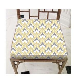 Damask C Chair Pad 15x15 Yel