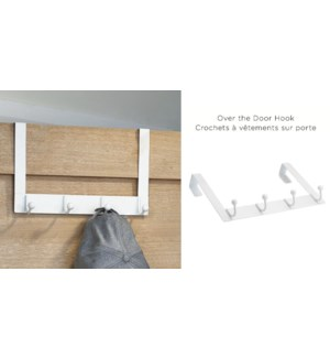 OVER Door Hook WHITE 32X20X8CM 6/B