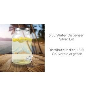 DISTRIBUTEUR DE BOISSON 5.5L COUVERCLE ARGENTE, 4/B