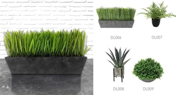 Grass & Grey Pot - 30x9x19-8B