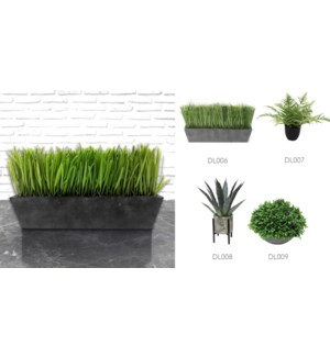 Grass & Grey Pot - 30x9x19-8B