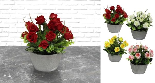 Pot de papier fleur en tissu - 12x18 - 24B