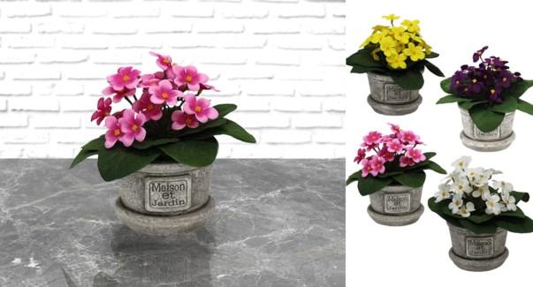 Tissu Fleur Pot Fran‡ais 11x16-24B