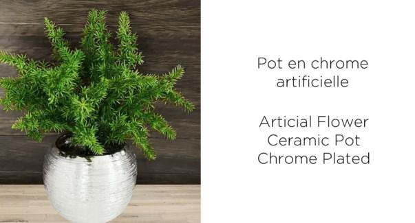 Pot de Chrome Artificiel Vert - 9.5x19-8B