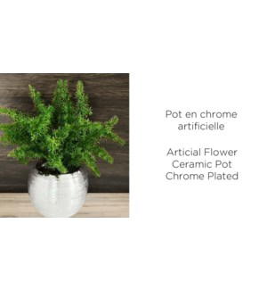 Pot de Chrome Artificiel Vert - 9.5x19-8B